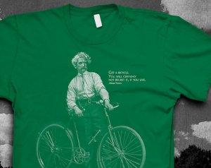 mark twain bike tee