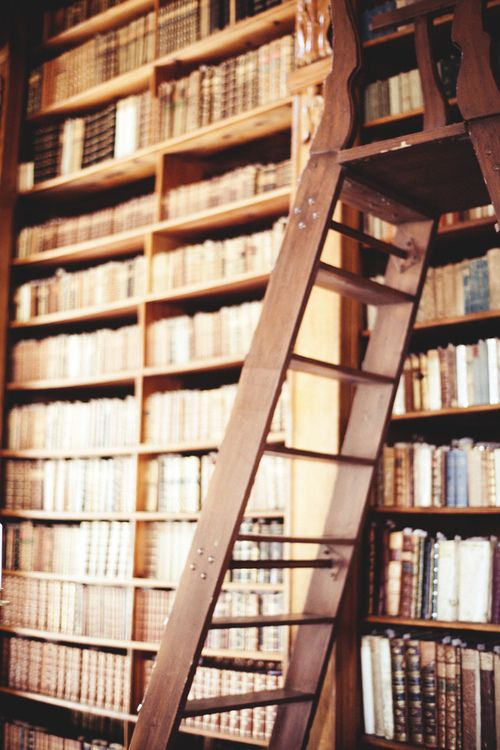 library with ladder