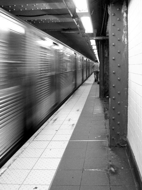 subway black and white