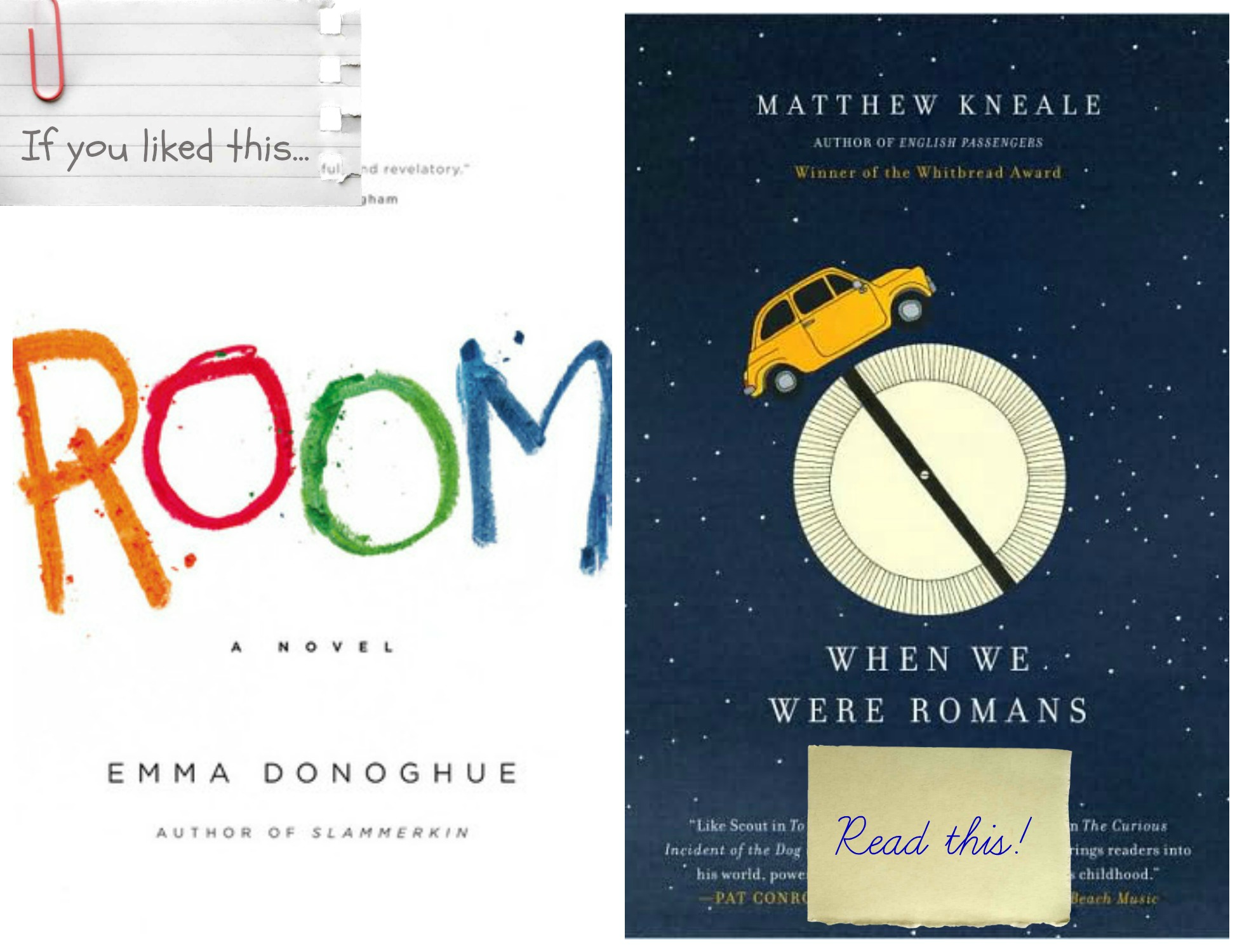 if you liked room read when we were romans