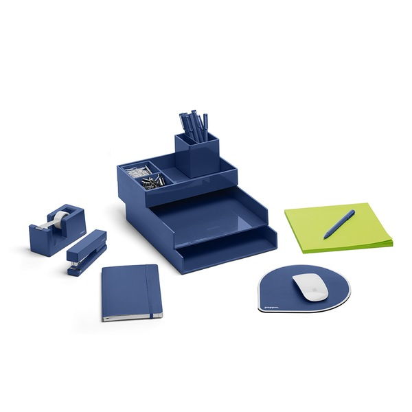 poppin blue desk set