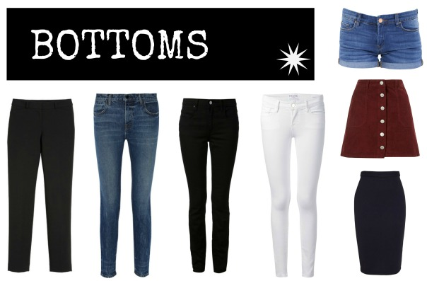 50 Piece Capsule Wardrobe Bottoms