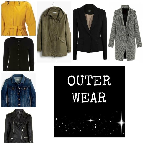 50 Piece Capsule Wardrobe Outerwear