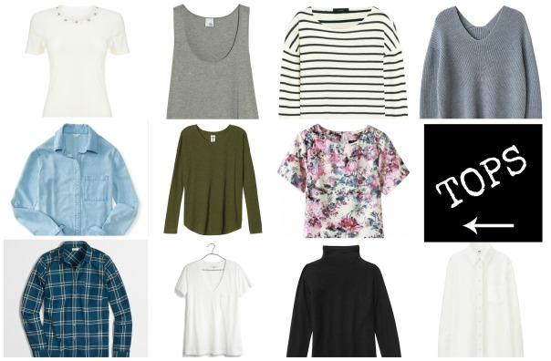 50 Piece Capsule Wardrobe Tops