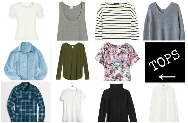 50 Piece Capsule Wardrobe Tops