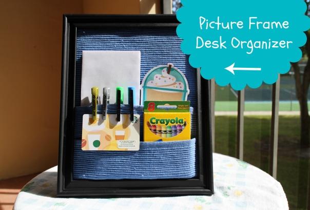 picture frame desk organizer bottom