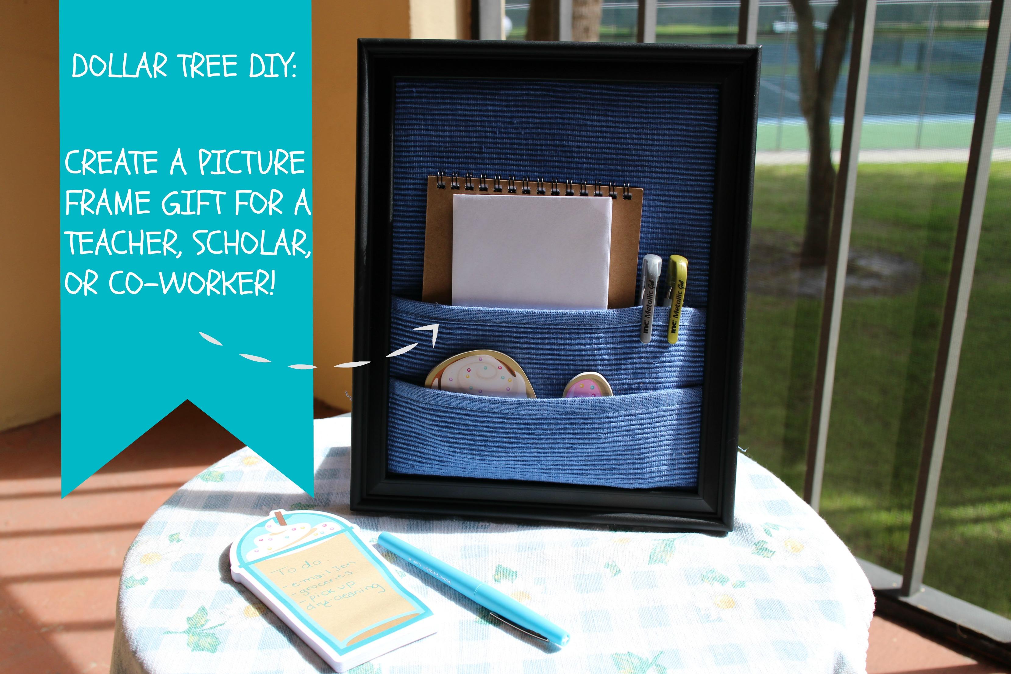 Diy Picture Frame Desk Organizer Finding Delight