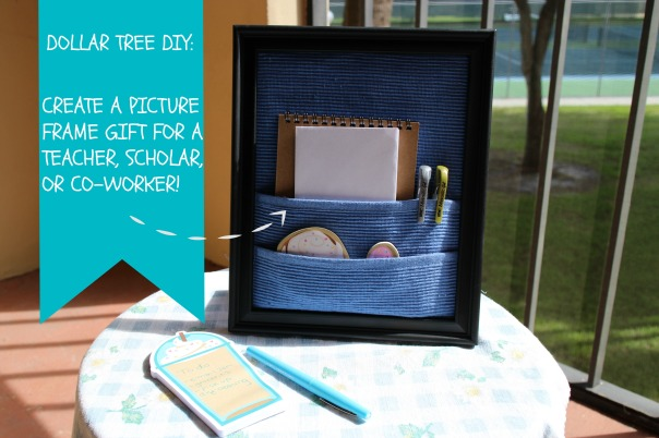 Picture Frame Desk Organizer top