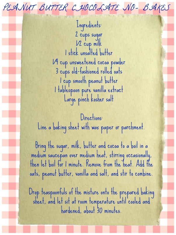 peanut butter chocolate no bake recipe