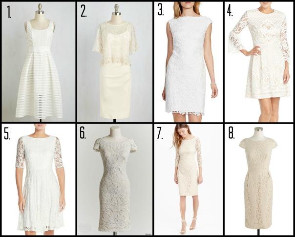 wedding dress candidates