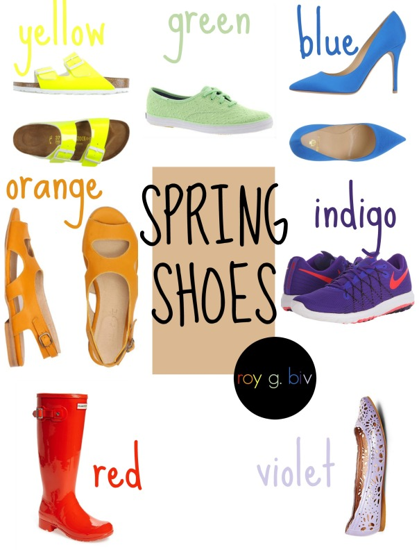 Roy G. Biv Spring Shoes Edition