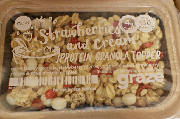 strawberries and cream granola