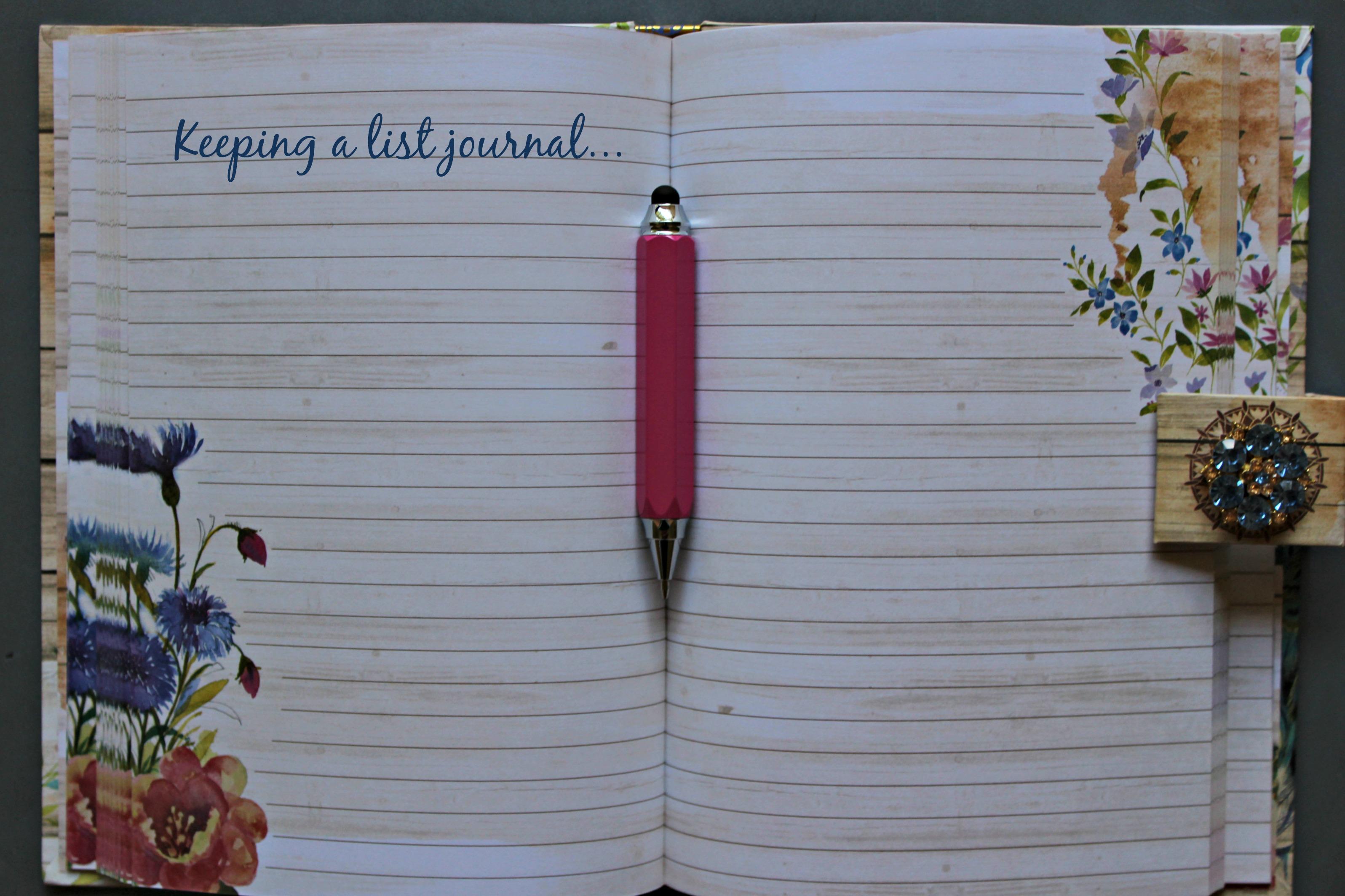 keeping a list journal