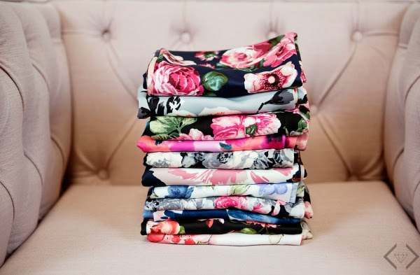 Stacked floral skirts from Cents of Style
