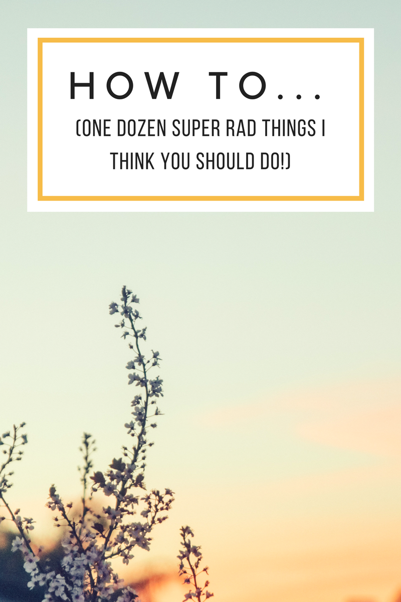 how to do one dozen things