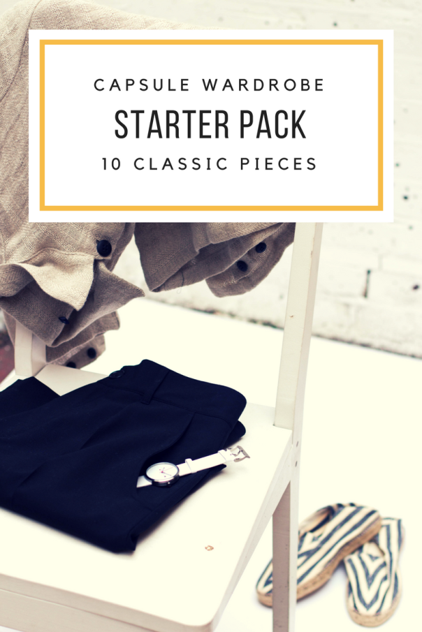 capsule wardrobe starter pieces