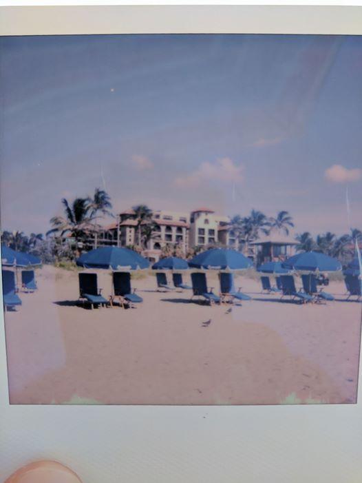 mariott hotel delray polaroid photograph