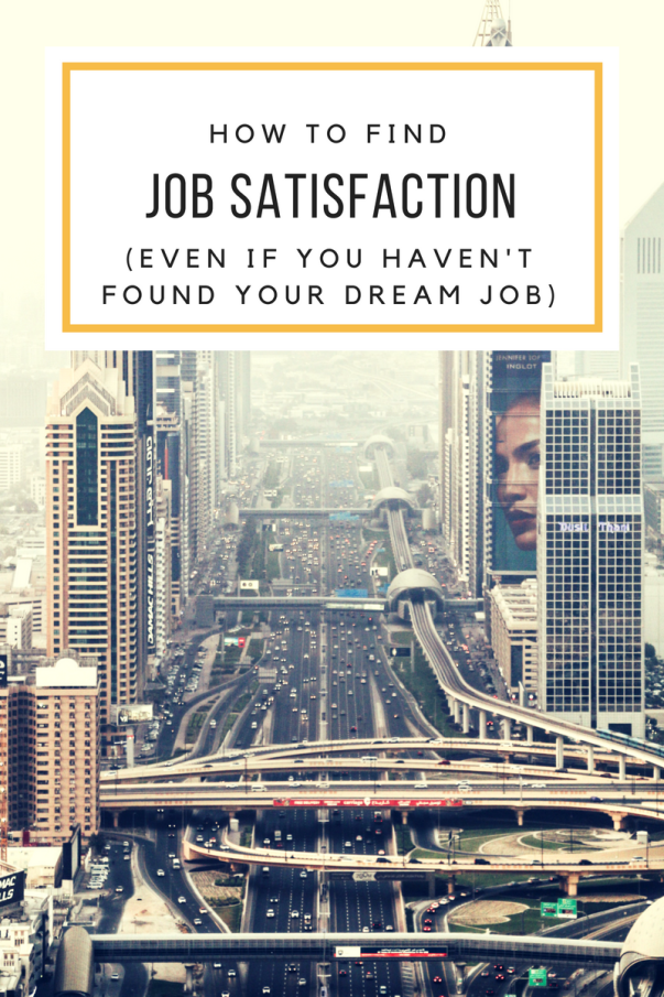 how to find job satisfaction