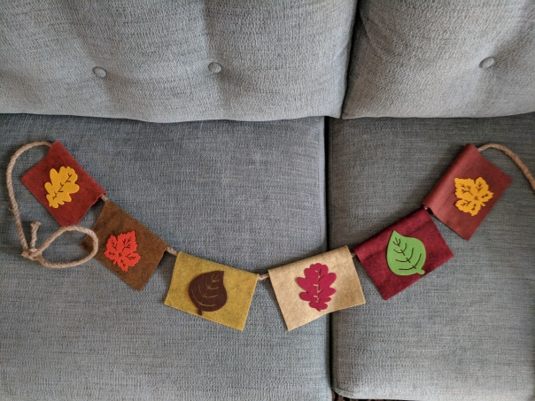 autumnal bunting