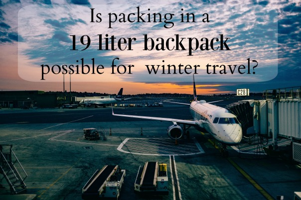 winter packing 19 liter backpack